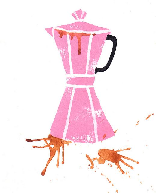 coffee pot by emma block. I really enjoy cooking and eating and post about food very often. I want to include that in my design too