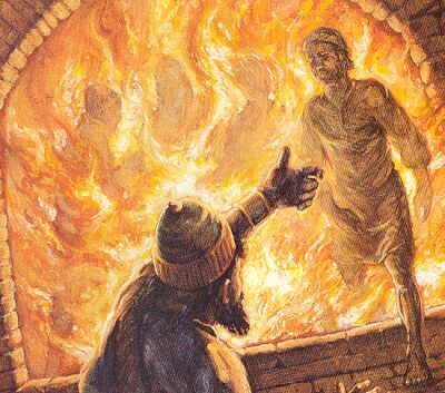 """Then Nebuchadnezzar came near to the mouth of the burning ..."