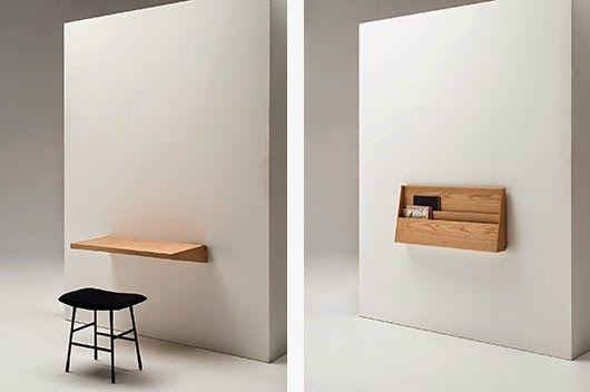 Resultado de imagen para escritorio empotrado pared oculto