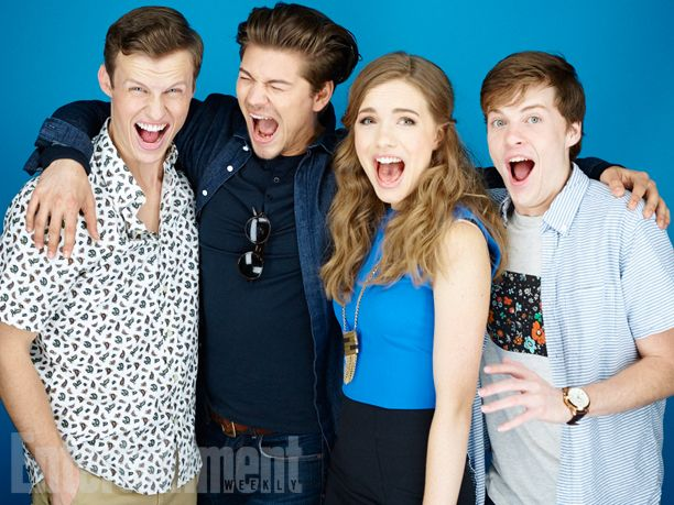 Connor Weil, Amadeus Serafini, Willa Fitzgerald, John Karna, 'Scream' #EWComicCon   Image Credit: Michael Muller for EW