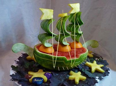 Food Art - cake isn't the only food medium that can be manipulated into something different. Very cool