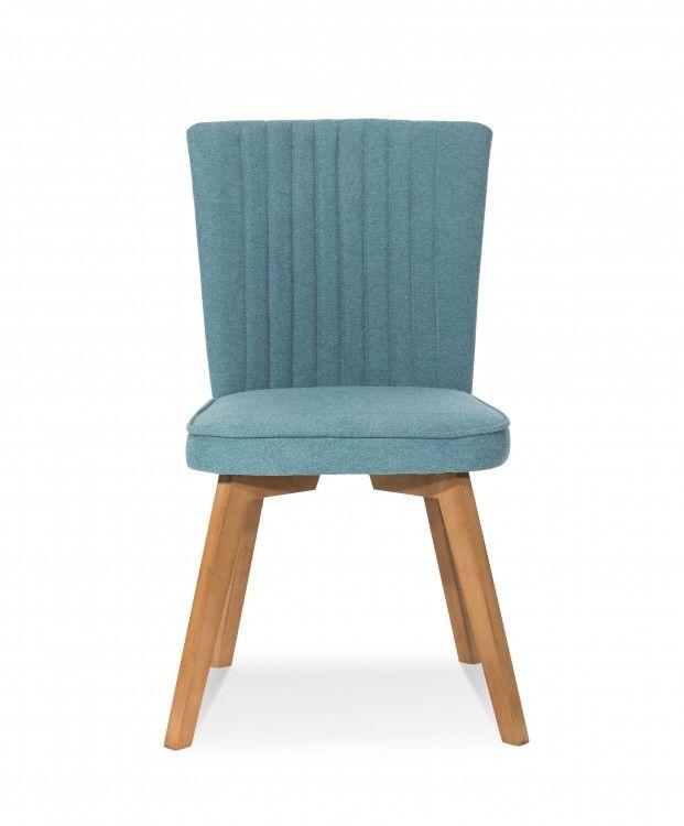 Stuhl KARNEVAL 2er Set Polsterstuhl Beine Hevea petrol Stühle - küchenstuhl weiß holz