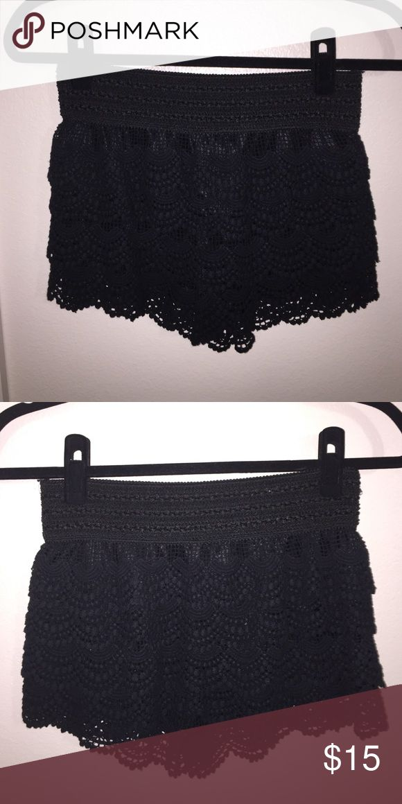 Apricot Lane Black Lace Shorts - Size S Gently used, no visible signs of wear. Shorts