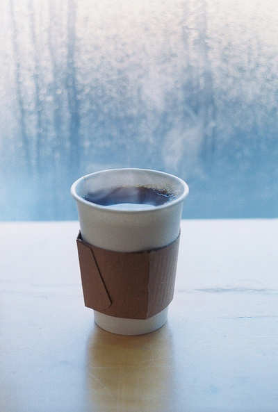 Coffee on a cold day.