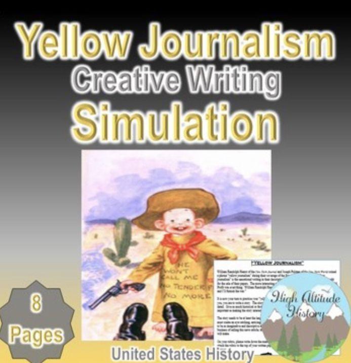 Yellow Journalism Creative Writing Simulation Creative Writing Social Studies Middle School Teaching History