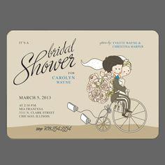 36 best erins bridal shower images on pinterest bicycle wedding bicycle wedding shower invitations bicycle wedding bicycle party bicycle tandem wedding filmwisefo Choice Image