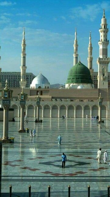 Serene atmosphere outside the courtyard of masjid al nabavi #Medina