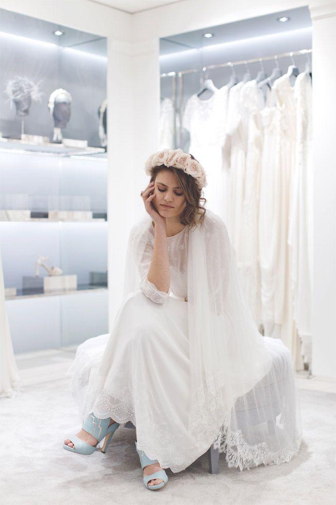 robe frida delise hameau en exclusivit pour maria luisa mariage au - Printemps Haussmann Mariage