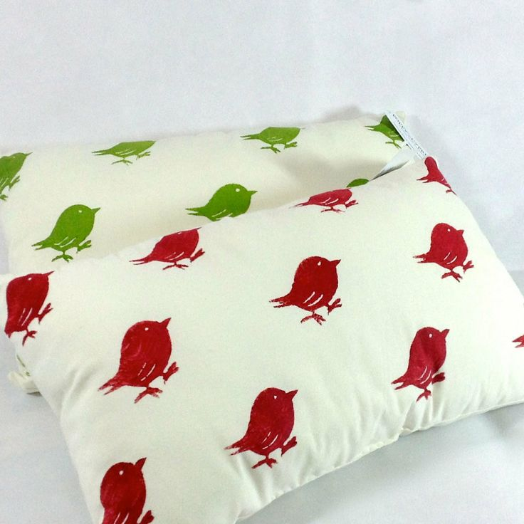 Poppy Cypress - Signature Bird Cushions - Red or Green #handmade #cushions #home #gifts