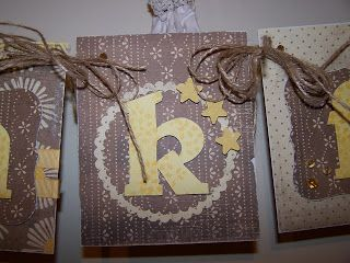 A close up of my Be Thankful bunting/banner