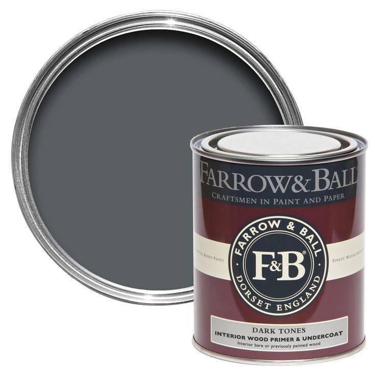 Farrow & Ball Dark Tones Wood Primer & Undercoat 750ml | Departments | DIY at B&Q