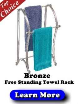 Bronze Free Standing Towel Rack - Free Standing Towel Rack