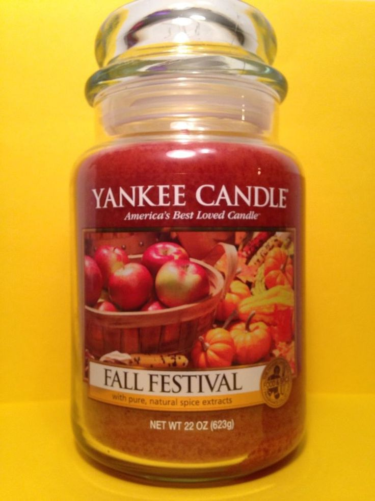 FALL FESTIVAL Yankee Candle AUTUMN RETIRED 22oz Large Jar Housewarmer