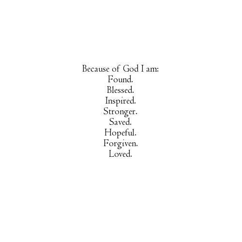 Living by God's grace.