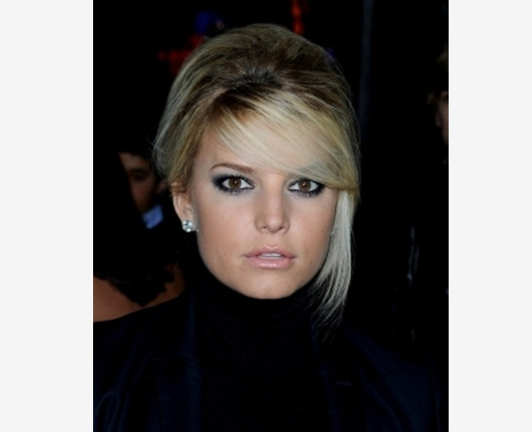 Jessica Simpson French Twist Updo with Bump