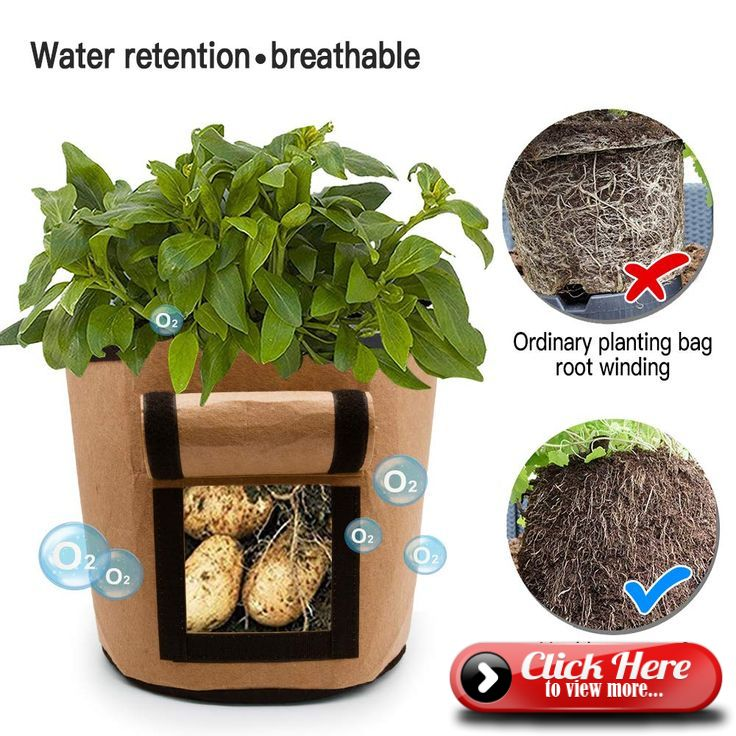 Tomatoes Potato Growth Bag Vegetable Cookware Planter Pot