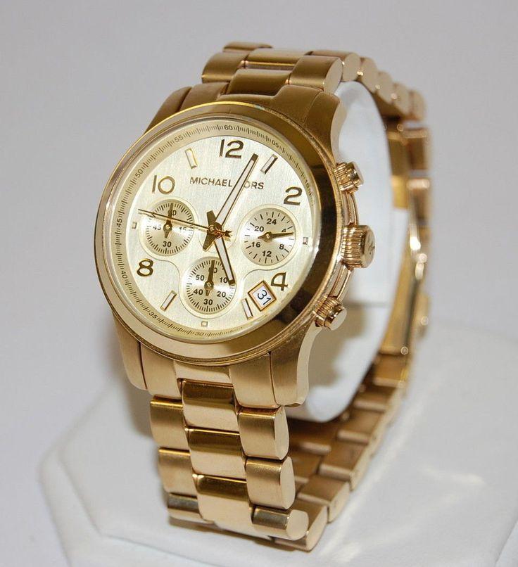 reloj michael kors dorados   reloj mk michael kors runway dorado