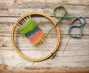 little weaving loom. Sweet!