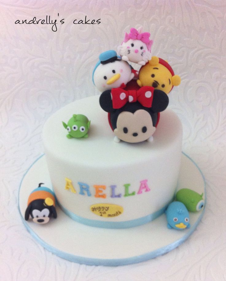 tsum tsum  Andrellys Cakes  Pinterest  Disney, Cute cakes and ...