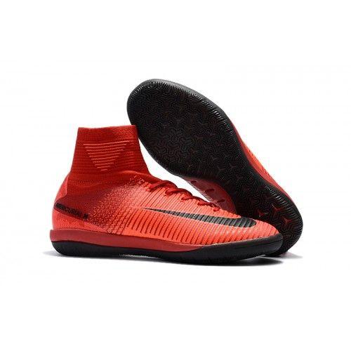 ... usa nike mercurial superfly v ic fotbollsskor röd och svart billiga  fotbollsskor nikeköpa fotbollsskor med strumpa 27d56b73947a2