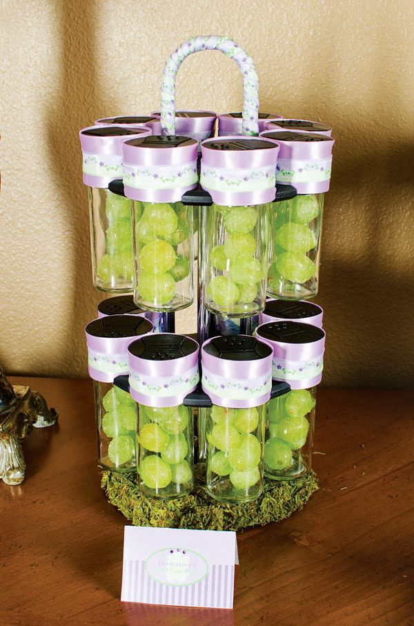 Princess and the Frog Birthday Party // Hostess with the Mostess®  Glitter dusted grapes