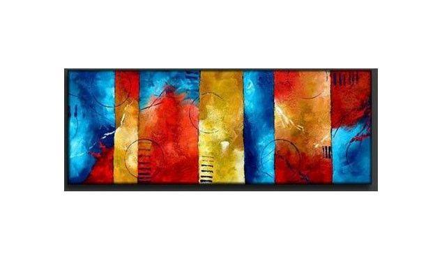 Color Ribbons Canvas Wall Art