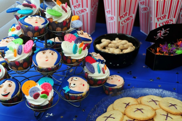 Coraline Birthday party ; Cupcakes by @Rachel DavisBirthday Parties, Coraline Birthday, Birthday S Parties, Birthday Ideas