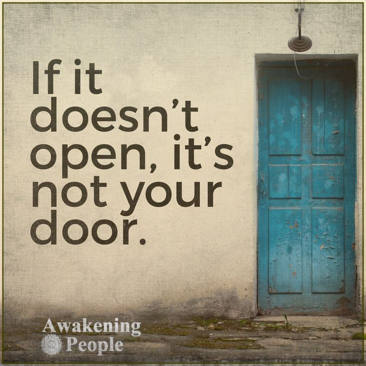 It it doesn't open, it's not your door.