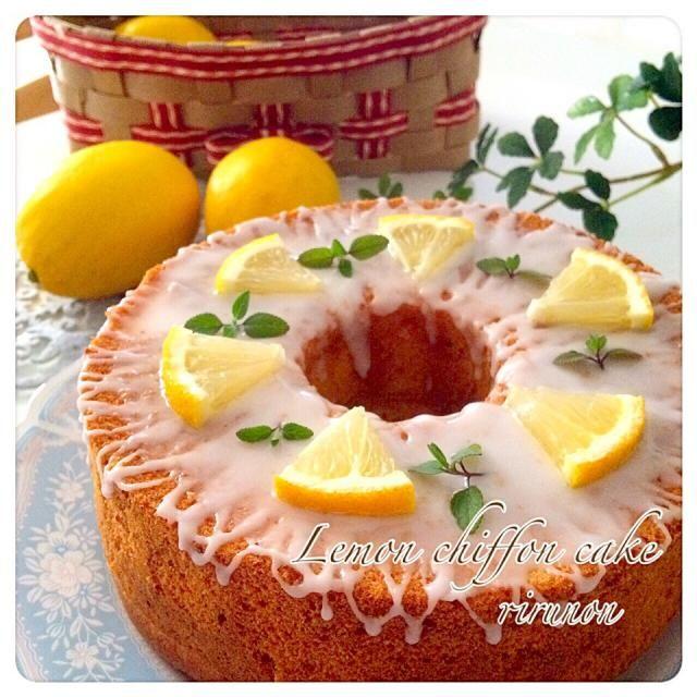 くららさんの料理 実家の檸檬でレモンシフォン☆