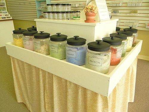 The Bath Factory Handmade Soap Store in Hot Springs, Arkansas - Sugar Scrub Display