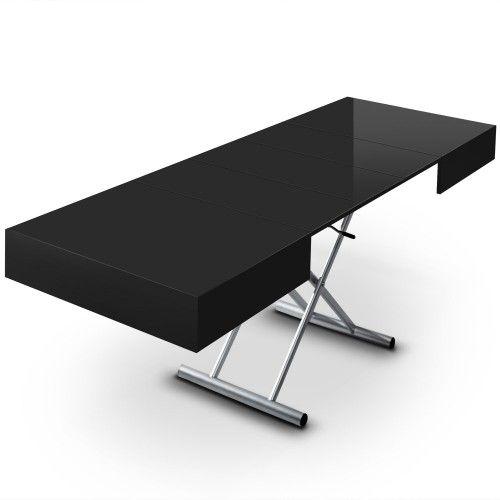 Table Basse Relevable A Rallonges Noire Cassidy