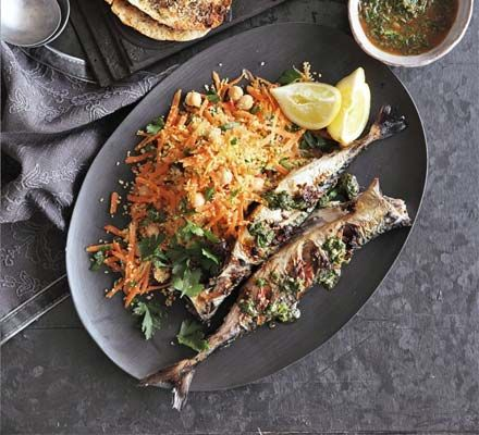 Chermoula is a North African marinade, used to flavour fish. The recipe varies, but this one contains paprika, making in Moroccan