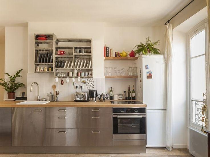 Les 25 meilleures id es de la cat gorie cuisine inox sur for Cuisine inox bois