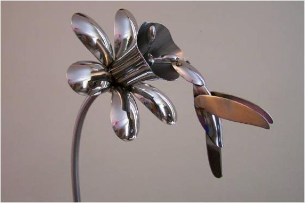 Silverware Yard Art | Silverware Art – Learn How to Make a Spoon Ring