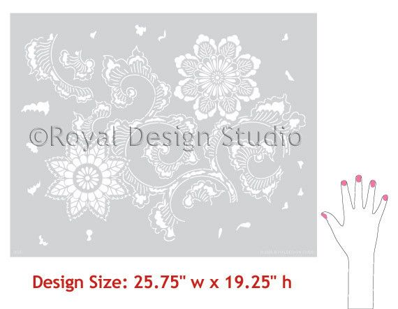 Allover Pattern Stencils | Kimono Allover Stencil | Royal Design Studio