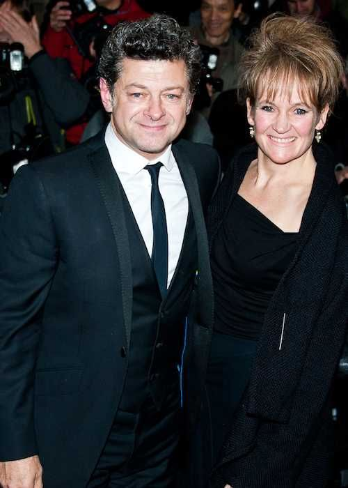 Andy Serkis and Lorraine Ashbourne at Harper's Bazaar Women of the Year Awards 2013...