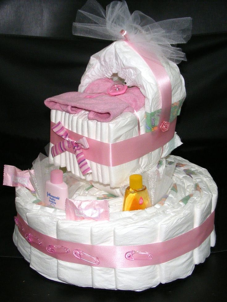 How To Make A Baby Shower Diaper Cake | Home   Unique Diaper Cakes And Baby