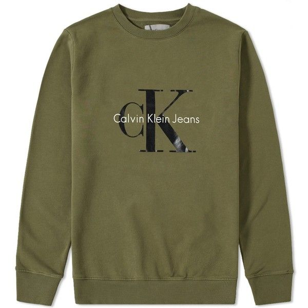 Calvin Klein CK Reissue Crew Sweat (12955 RSD) ❤ liked on Polyvore featuring men's fashion, men's clothing, men's hoodies, men's sweatshirts, mens crew neck sweatshirts and mens crewneck sweatshirts
