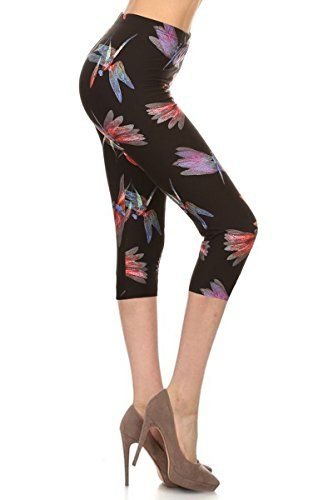 New Trending Pants: Leggings Depot Womens Popular Capri Cropped REGULAR and PLUS Printed High Waist Leggings Batch2 (Plus Size (12-24), Dragonfly Wishes). Leggings Depot Women's Popular Capri Cropped REGULAR and PLUS Printed High Waist Leggings Batch2 (Plus Size (12-24), Dragonfly Wishes)  Special Offer: $12.99  488 Reviews These beautiful high rise capri leggings in abstract print provides a slimming design with a high rise fabric...