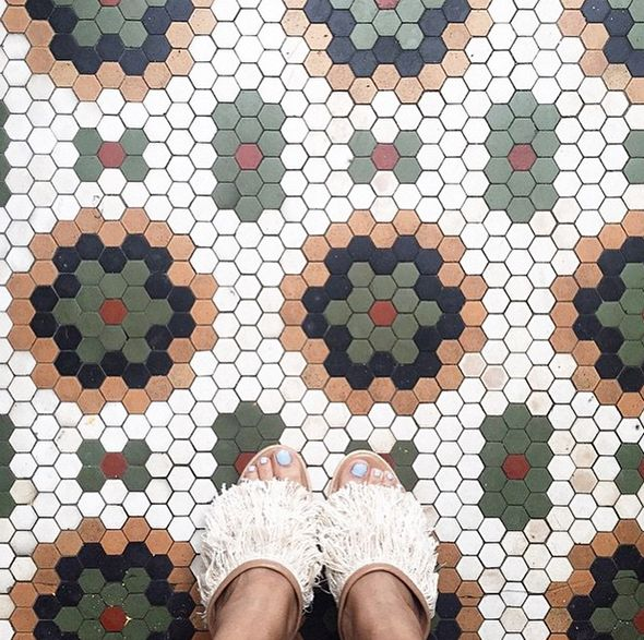 Another great hexagon #tile inspiration! This floor would be great in a kitchen, bathroom, or just about anywhere! #TileSensations
