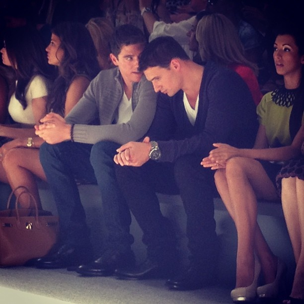 Swimmer Ryan Lochte and his brother sat in the front row at #Milly. Photo by the WSJ's Elizabeth Holmes. #nyfw: Photo
