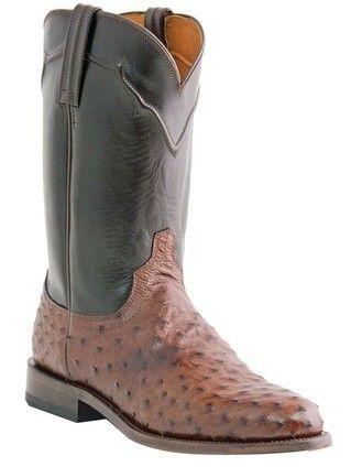 Lucchese Men's Boots - M1631 Coleman - Sienna Full Quill Ostrich / Dark  Brown. See