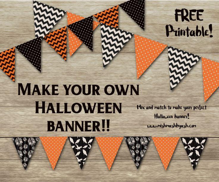 Halloween Banner, Free Halloween Printable, Printable Halloween Decor | MishMash by Ash
