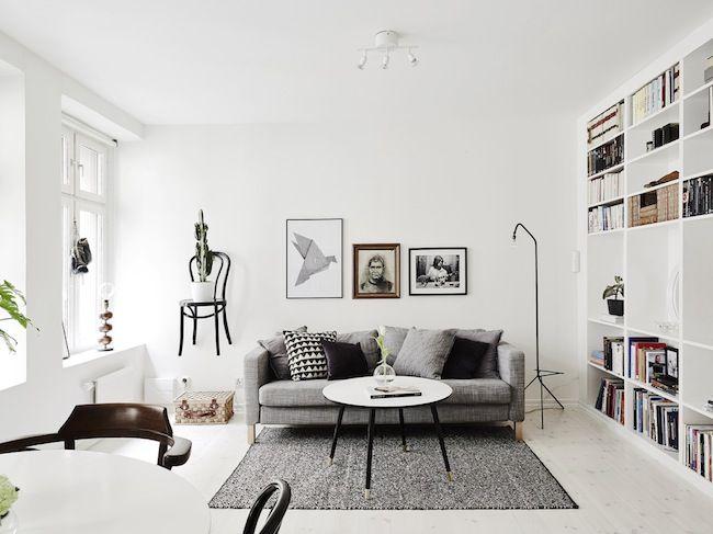 Striking monochrome in a Gothenburg home