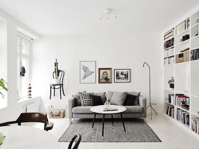 Striking monochrome in a Gothenburg home