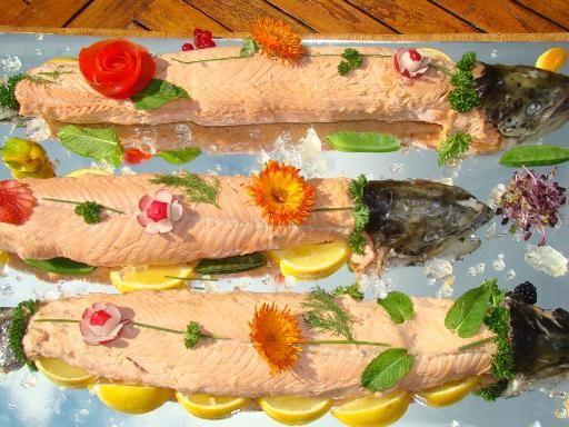saumon en bellevue - Recette de cuisine Marmiton : une recette