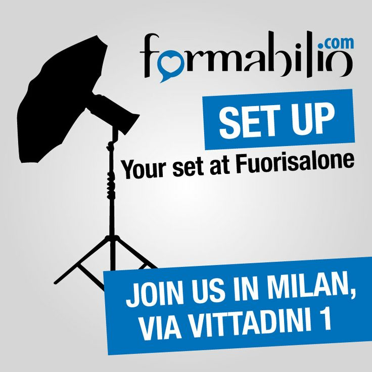 Fuorisalone // Milano Design Week has started. Come and visit us! April 8th-13th, 10.30 am - 7 pm. More info --> https://www.formabilio.com/fuorisalone-2014