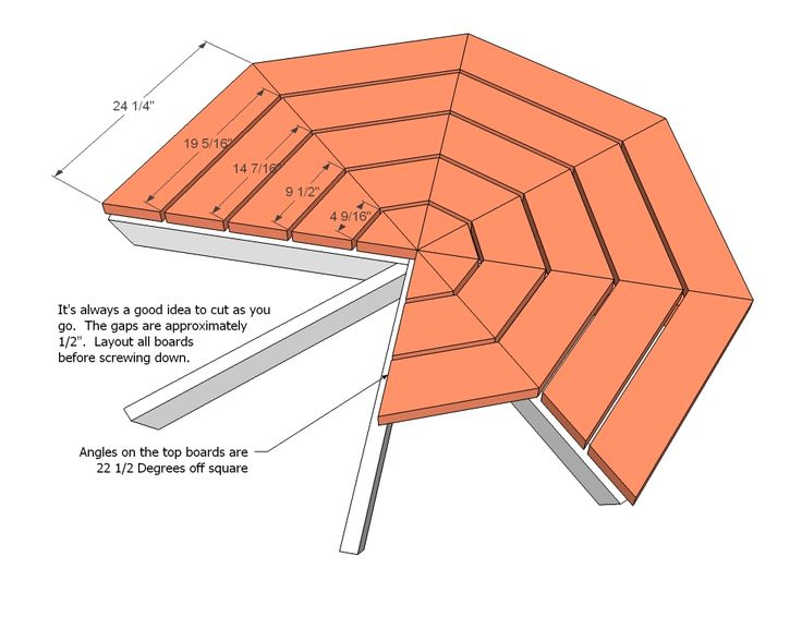 25 best ideas about octagon picnic table on pinterest for Octagon picnic table blueprints