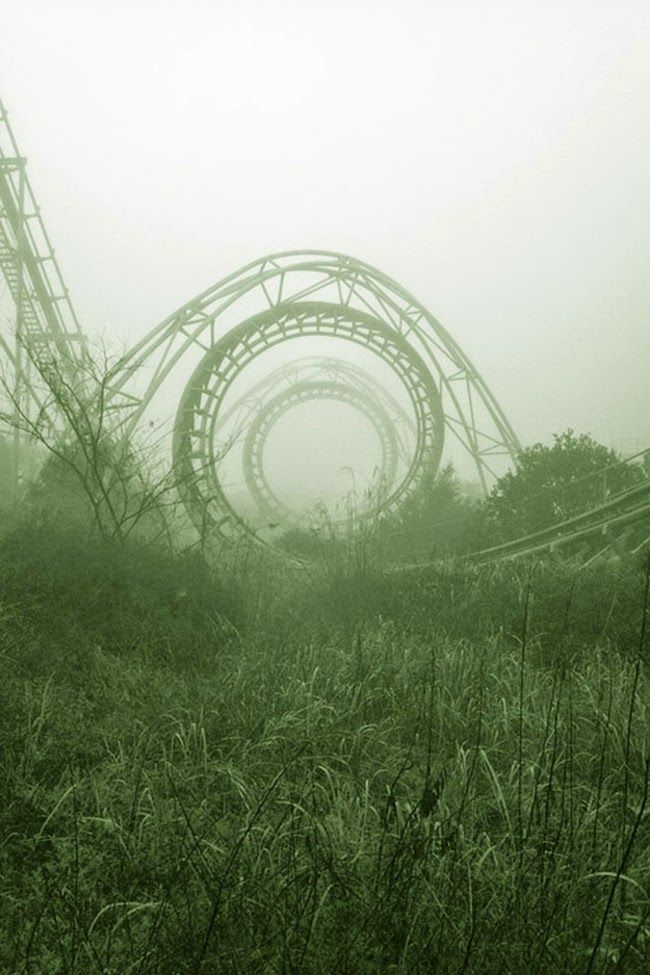 Remnants of a roller coaster