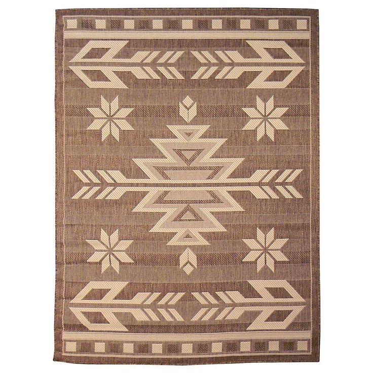 nice Bahamas Southwestern Design Mocha 5 ft. 0.5 in. x 7 ft. 0.5 in. Indoor/Outdoor Area Rug Check more at http://yorugs.com/product/bahamas-southwestern-design-mocha-5-ft-0-5-in-x-7-ft-0-5-in-indooroutdoor-area-rug/